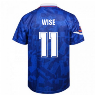 Score Draw Chelsea 1992 Retro Football Shirt (Wise 11)