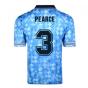Score Draw England 1990 Third World Cup Finals Retro Football Shirt (PEARCE 3)
