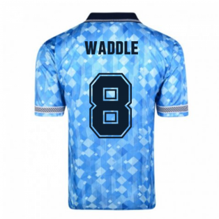 Score Draw England 1990 Third World Cup Finals Retro Football Shirt (Waddle 8)