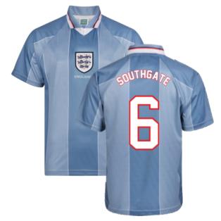 Score Draw England 1996 Away Euro Championship Retro Football Shirt (SOUTHGATE 6)