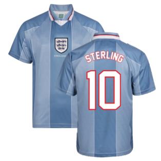 Score Draw England 1996 Away Euro Championship Retro Football Shirt (Sterling 10)