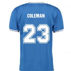 Score Draw Everton 1985 ECWC Final Home Shirt (COLEMAN 23)