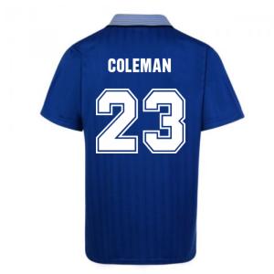 Score Draw Everton 1995 Cup Final Umbro Retro Football Shirt (COLEMAN 23)