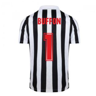 Score Draw Juventus 1984 Retro Football Shirt (BUFFON 1)