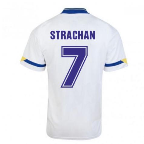Score Draw Leeds United 1992 Home Shirt (Strachan 7)