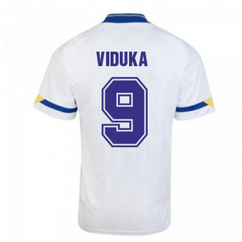 Score Draw Leeds United 1992 Home Shirt (VIDUKA 9)