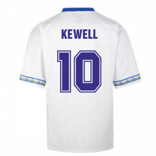 Score Draw Leeds United 1993 Admiral Retro Football Shirt (KEWELL 10)