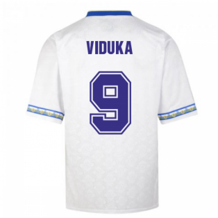 Score Draw Leeds United 1993 Admiral Retro Football Shirt (VIDUKA 9)