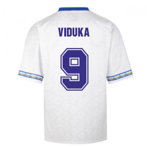 Score Draw Leeds United 1993 Admiral Retro Football Shirt (VIDUKA 9)