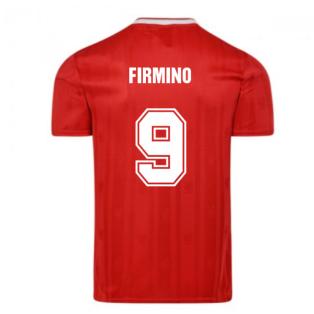 Score Draw Liverpool FC 1989 Retro Football Shirt (FIRMINO 9)