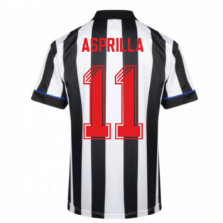 Score Draw Newcastle United 1995 Retro Football Shirt (Asprilla 11)