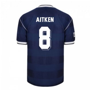 Score Draw Scotland 1986 Retro Football Shirt (Aitken 8)