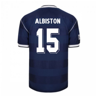 Score Draw Scotland 1986 Retro Football Shirt (Albiston 15)