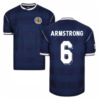Score Draw Scotland 1986 Retro Football Shirt (Armstrong 6)