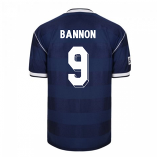 Score Draw Scotland 1986 Retro Football Shirt (Bannon 9)