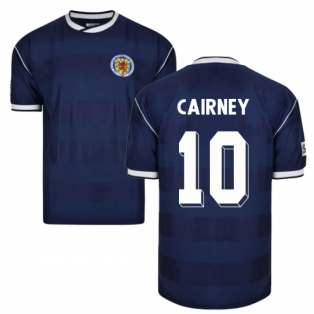 Score Draw Scotland 1986 Retro Football Shirt (Cairney 10)