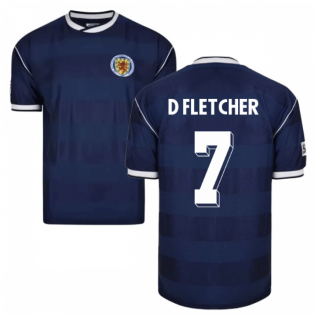 Score Draw Scotland 1986 Retro Football Shirt (D Fletcher 7)