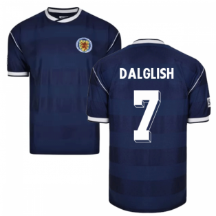 Score Draw Scotland 1986 Retro Football Shirt (Dalglish 7)