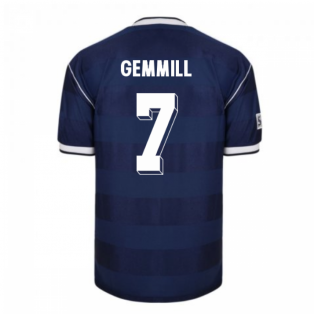 Score Draw Scotland 1986 Retro Football Shirt (GEMMILL 7)