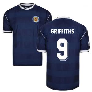 Score Draw Scotland 1986 Retro Football Shirt (Griffiths 9)
