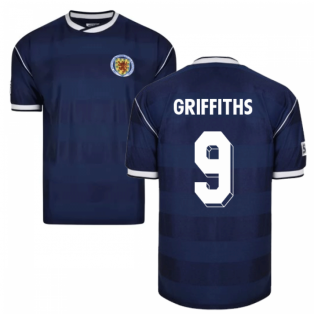Score Draw Scotland 1986 Retro Football Shirt (Griffiths 9)