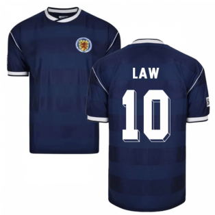 Score Draw Scotland 1986 Retro Football Shirt (Law 10)