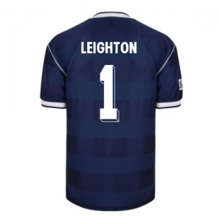 Score Draw Scotland 1986 Retro Football Shirt (Leighton 1)