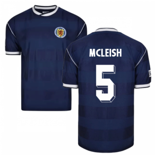 Score Draw Scotland 1986 Retro Football Shirt (McLeish 5)