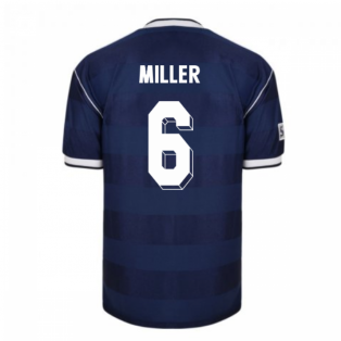 Score Draw Scotland 1986 Retro Football Shirt (Miller 6)