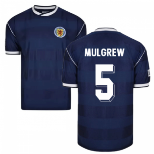 Score Draw Scotland 1986 Retro Football Shirt (Mulgrew 5)