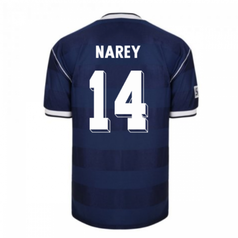 Score Draw Scotland 1986 Retro Football Shirt (Narey 14)