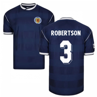 Score Draw Scotland 1986 Retro Football Shirt (Robertson 3)