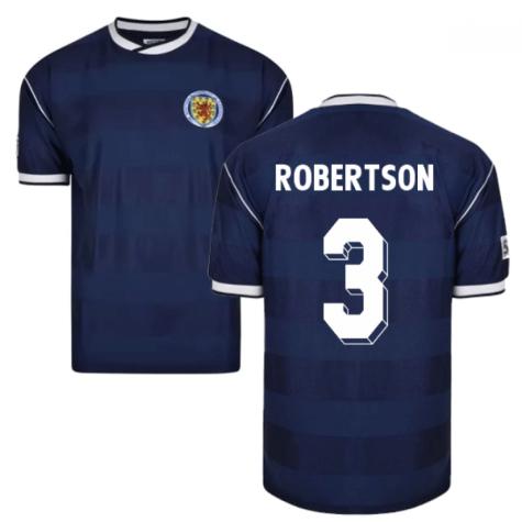 Score Draw Scotland 1986 Retro Football Shirt (Robertson 3)