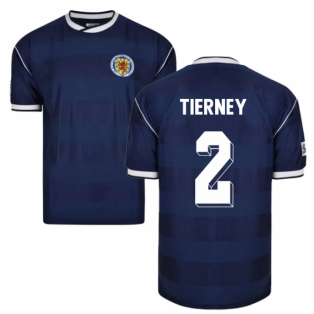 Score Draw Scotland 1986 Retro Football Shirt (Tierney 2)