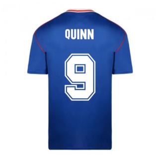 Score Draw Sunderland 1990 Away Football Shirt (Quinn 9)