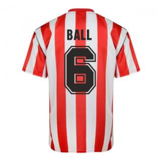 Score Draw Sunderland 1990 Retro Football Shirt (Ball 6)