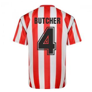 Score Draw Sunderland 1990 Retro Football Shirt (Butcher 4)