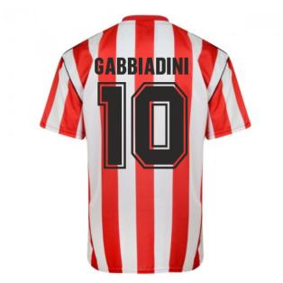 Score Draw Sunderland 1990 Retro Football Shirt (Gabbiadini 10)