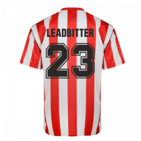 Score Draw Sunderland 1990 Retro Football Shirt (Leadbitter 23)