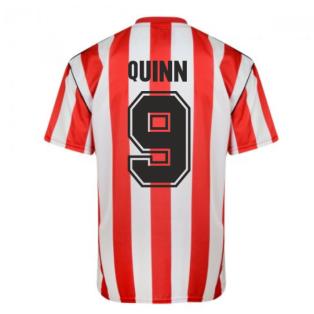 Score Draw Sunderland 1990 Retro Football Shirt (Quinn 9)