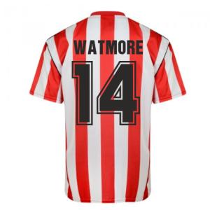 Score Draw Sunderland 1990 Retro Football Shirt (Watmore 14)