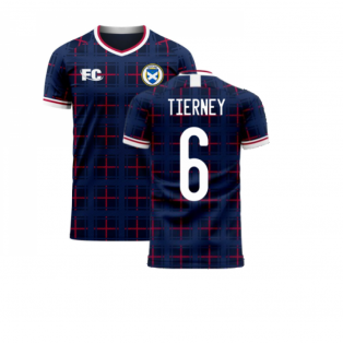 Scotland 2020-2021 Home Concept Shirt (Fans Culture) (TIERNEY 6)
