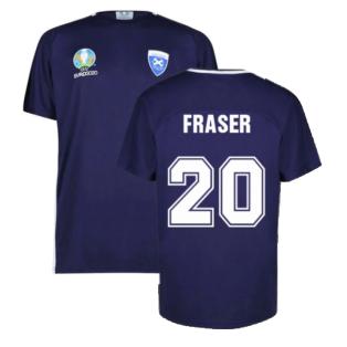 Scotland 2021 Polyester T-Shirt (Navy) (Fraser 20)