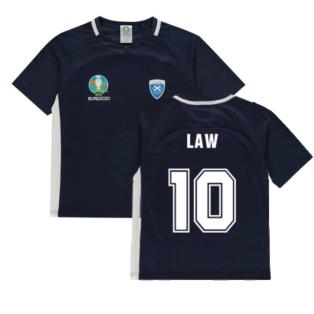 Scotland 2021 Polyester T-Shirt (Navy) - Kids (LAW 10)