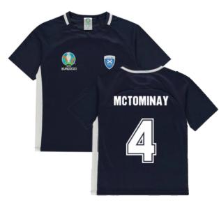 Scotland 2021 Polyester T-Shirt (Navy) - Kids (McTominay 4)