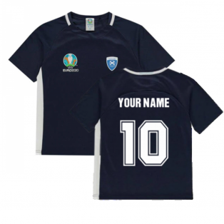 Scotland 2021 Polyester T-Shirt (Navy) - Kids (Your Name)