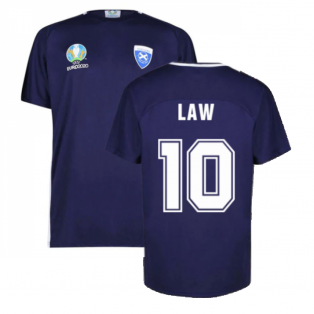 Scotland 2021 Polyester T-Shirt (Navy) (LAW 10)