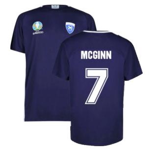 Scotland 2021 Polyester T-Shirt (Navy) (McGinn 7)