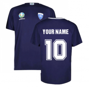 Scotland 2021 Polyester T-Shirt (Navy) (Your Name)