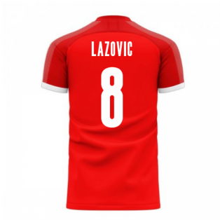 Serbia 2020-2021 Home Concept Football Kit (Libero) (LAZOVIC 8)